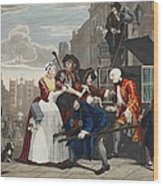 Arrested For Debt, Plate V From A Rakes Wood Print