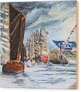Arrival At The Hanse Sail Rostock Wood Print