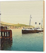 Arrival Of Boulogne Boat Folkestone - England  Wood Print