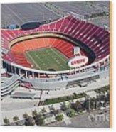 Arrowhead Stadium Kansas City Missouri Wood Print