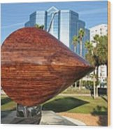 Art 2009 At Sarasota Waterfront Wood Print