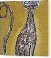 Cat Art Wood Print