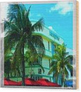 Art Deco Barbizon Hotel Miami Beach Wood Print