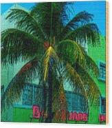 Art Deco Boulevard Hotel Miami Wood Print