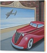 Art Deco Coupe Wood Print