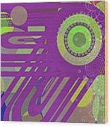 Art Deco Explosion 6 Wood Print