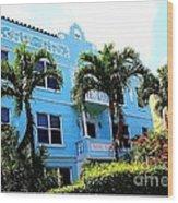 Art Deco Hotel In Miami Beach Wood Print