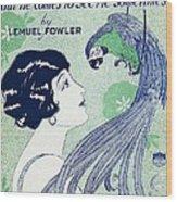 Art Deco Poster Wood Print