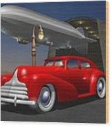Art Deco Sedan Wood Print