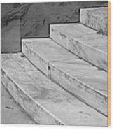 Art Deco Steps In Black And White Wood Print