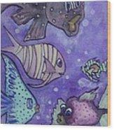Fish Art Wood Print