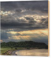 Art For Crohn's Lake Ontario Sun Beams Wood Print by Tim Buisman
