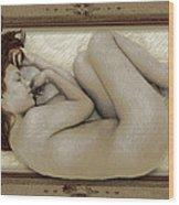 Art For The Sake Of Art Woman Framed 3 Wood Print