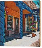 Art Gallery In Taos Wood Print