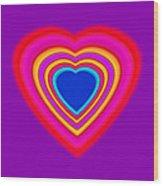 Art Heart Blue Wood Print