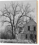 Art Homage Andrew Wyeth Abandoned 1930's Farm House Near Aberdeen South Dakota 1965-2012 Wood Print