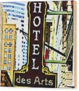 Art Hotel Wood Print