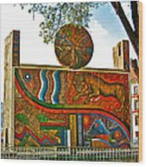 Art In A Cusco Park-peru  Wood Print
