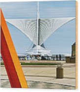 The Milwaukee Art Museum By Santiago Calatrava Wood Print