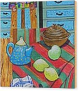 Art In The Kitchen Wood Print
