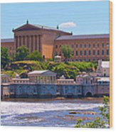 Art Museum And Fairmount Waterworks - Hdr Wood Print