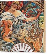 Art Nouveau Biscuit Ad 1897 Wood Print