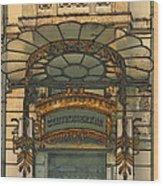 Art Nouveau Doorway In Ljubljana Wood Print