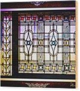 Art-nouveau Stained Glass Window Wood Print