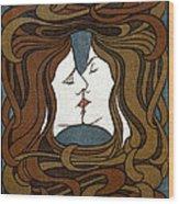 Art Nouveau Woodblock Print  1898 Wood Print