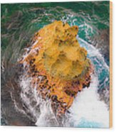 Art Of Rocks At Waianae Coast Wood Print