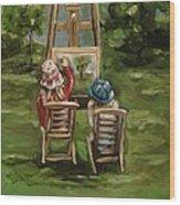 Art Of Teaching Oil Painting Wood Print