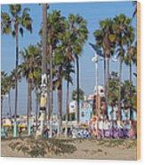 Art Of Venice Beach Wood Print