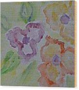 Art Of Watercolor Wood Print
