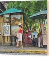 Art Show In San Juan Wood Print