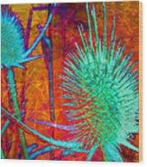 Art Thistles Wood Print
