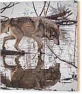 Artful Crossing Wood Print