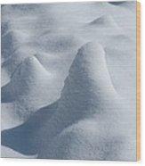 Artful Snowfall Wood Print