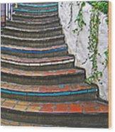 Artful Stair Steps Wood Print
