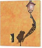 Artful Street Lamp Wood Print