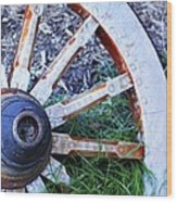 Artful Wagon Wheel Wood Print