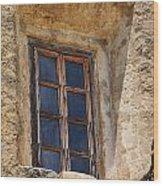 Artful Window At Mission San Jose In San Antonio Missions National Historical Park Wood Print