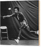 Arthur Ashe Returning Tennis Ball Wood Print by Retro Images Archive