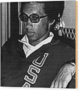 Arthur Ashe With Sunglasses Wood Print by Retro Images Archive
