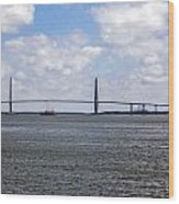Arthur Ravenel Bridge Wood Print