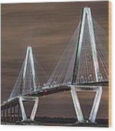 Arthur Ravenel Jr. Bridge Wood Print by Brian Young