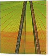 Arthur Ravenel Jr Bridge V Wood Print