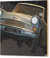 Arthur's Flying Ford Anglia Wood Print