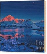 Artic Sunset Wood Print by Francesco Ferrarini