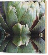 Artichoke Reflect Wood Print