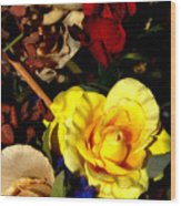 Artificial Arrangement Wood Print